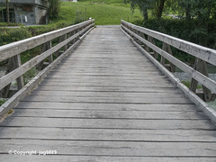 VAL150 Local Roadbridge over the Valser Rhine, Vals, Canton of Grisons, Switzerland