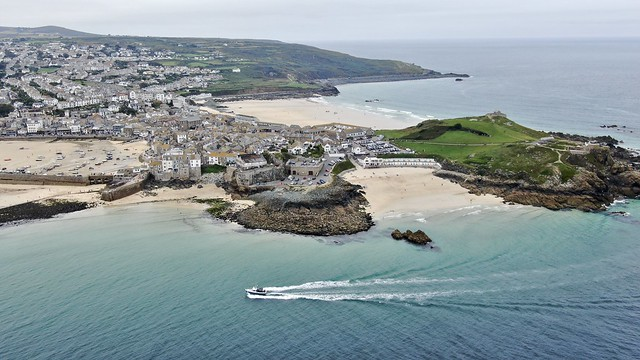 St Ives in Cornwall - aerial image