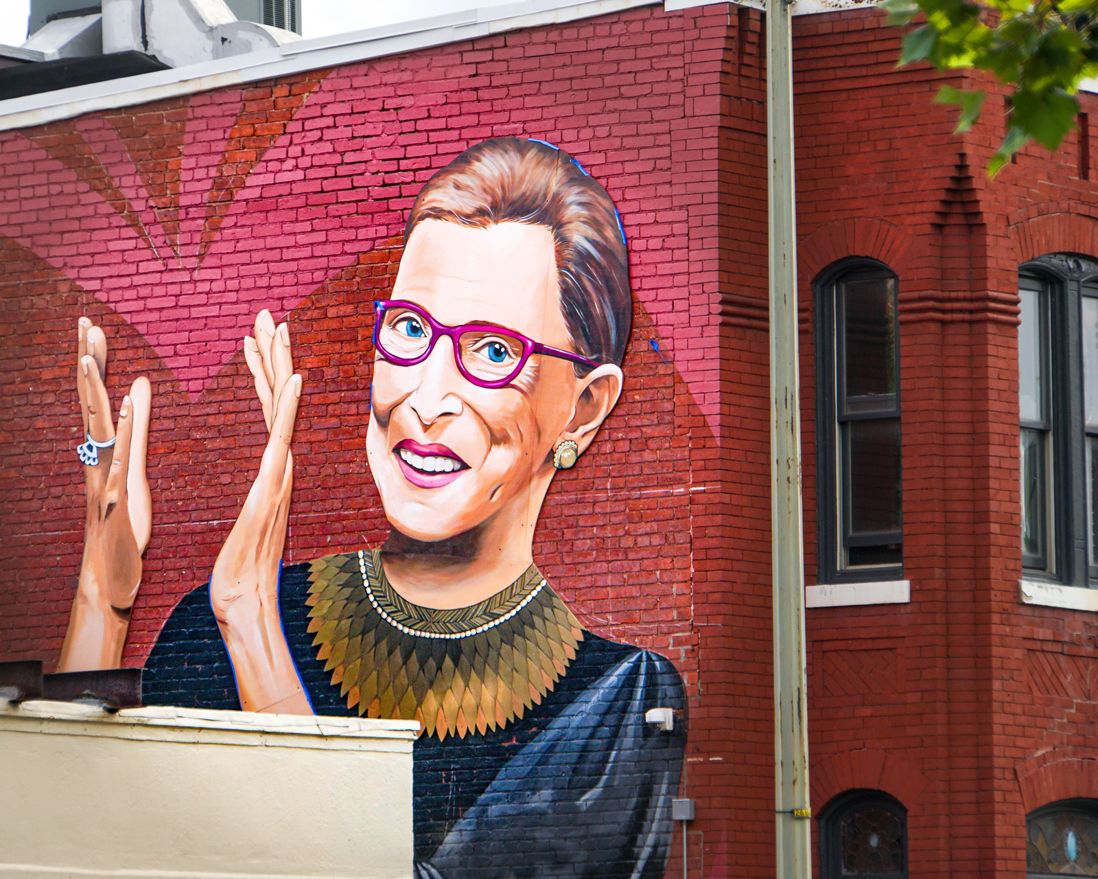 2019.09.14 Ruth Bader Ginsburg Mural, Washington, DC USA 257 33040