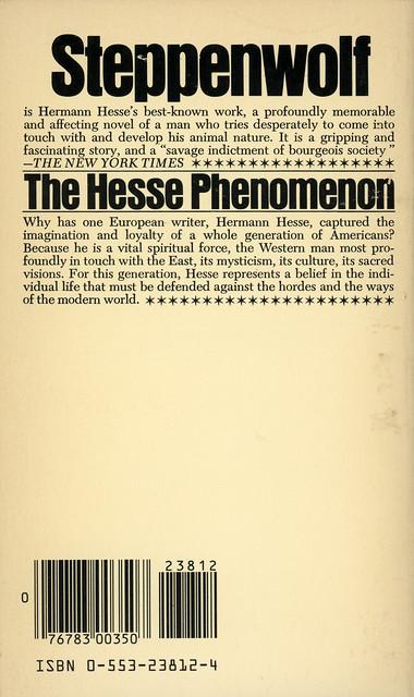 Bantam Books 23812-4 - Hermann Hesse - Steppenwolf (back)