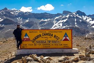 Nakee-La Top (altitude 15,547 ft.) at Leh-Manali Hwy.