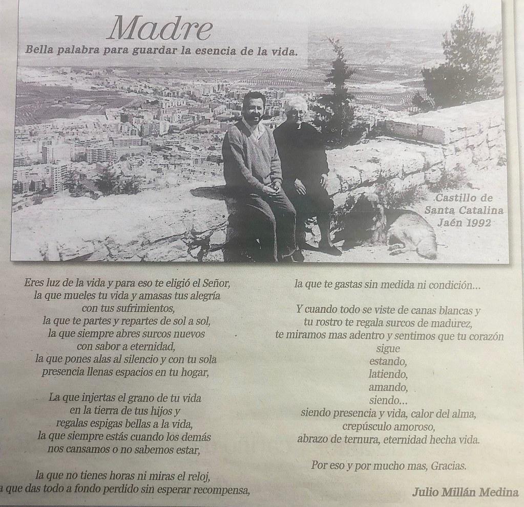 Poema de Julio Millán a su madre