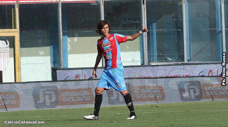Gianmarco Distefano in prima squadra, Catania-Viterbese Castrense 1-0