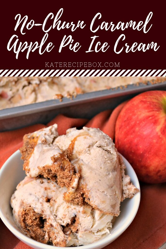 No Churn Caramel Apple Pie Ice Cream