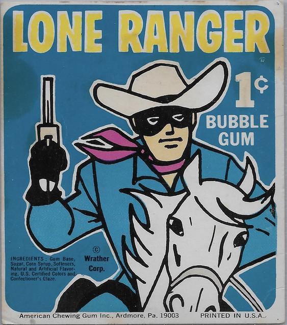 1960's Lone Ranger Gumball Machine Card