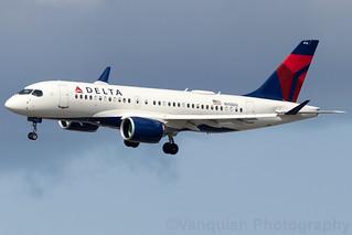 N112DU Delta Airlines Bombardier CSeries CS100 New York LaGuardia
