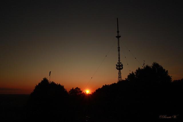 Sonnenuntergang auf dem Hesselberg