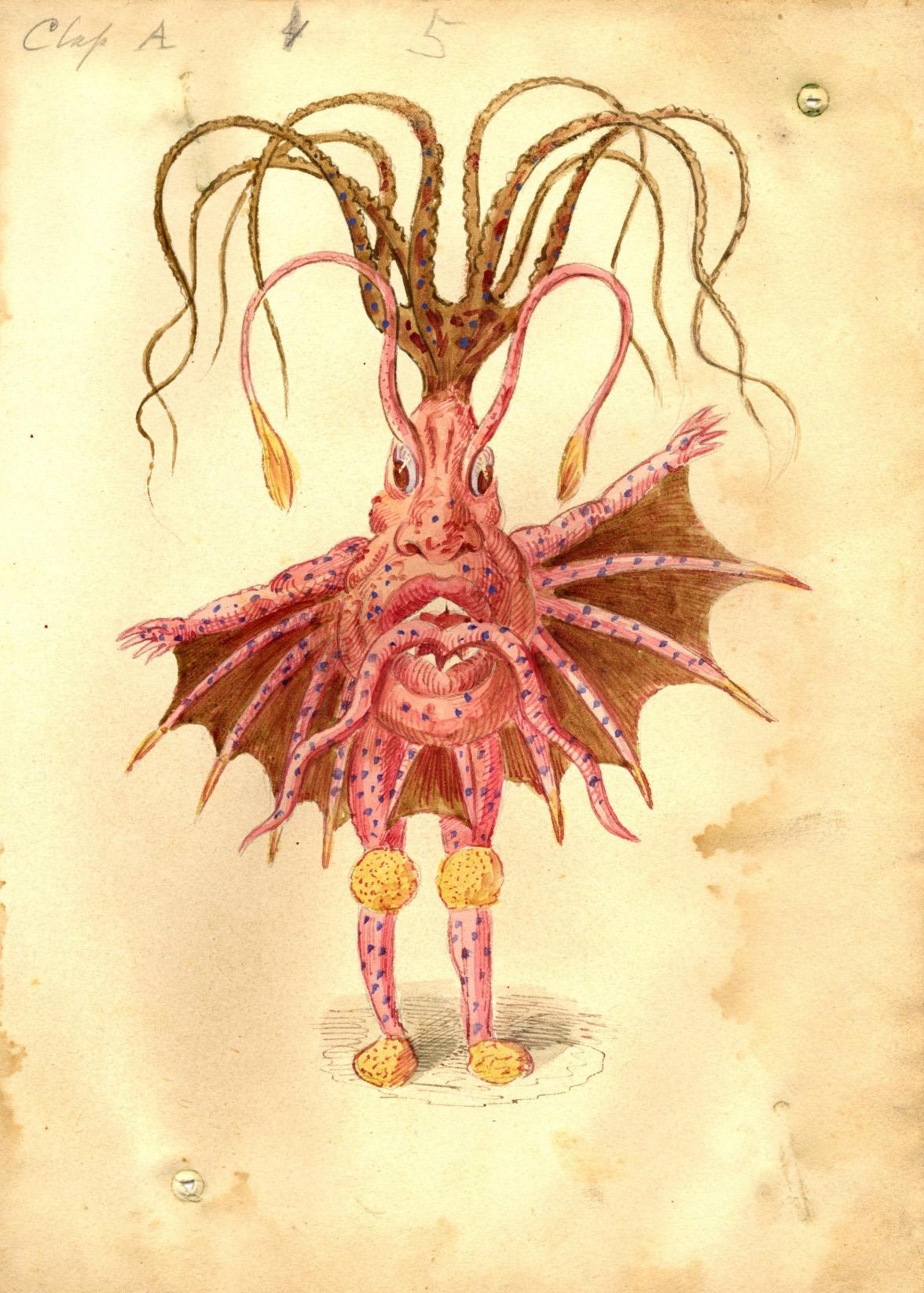 Charles Briton - Sea Nettle Costume Design,1873