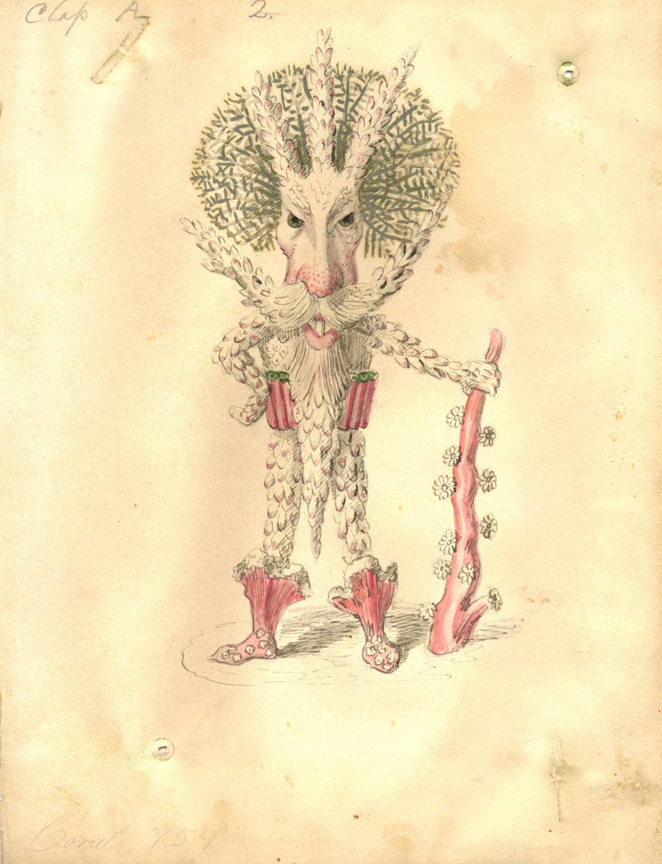 Charles Briton - Coral Polyp Costume Design, 1873