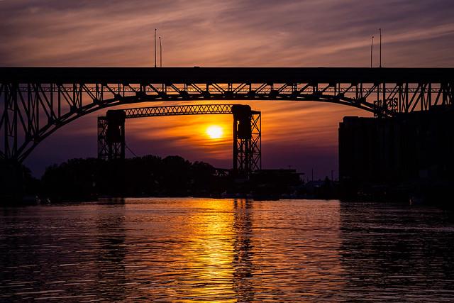 Sunset Through The Bridges