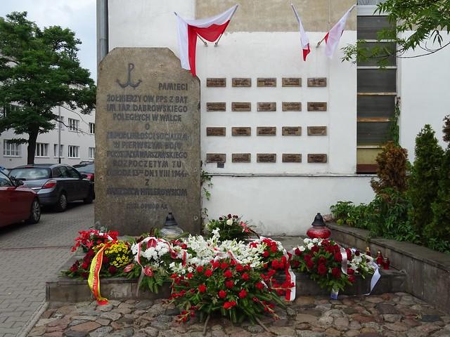 Warsaw Uprising memorial at the corner of Próchnika and Suzina streets