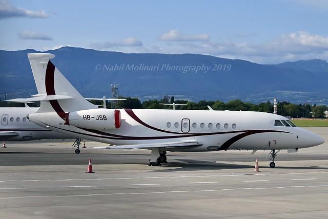PrivatAir HB-JSB Dassault Falcon 2000 cn/171 @ LSGG / GVA 13-08-2019