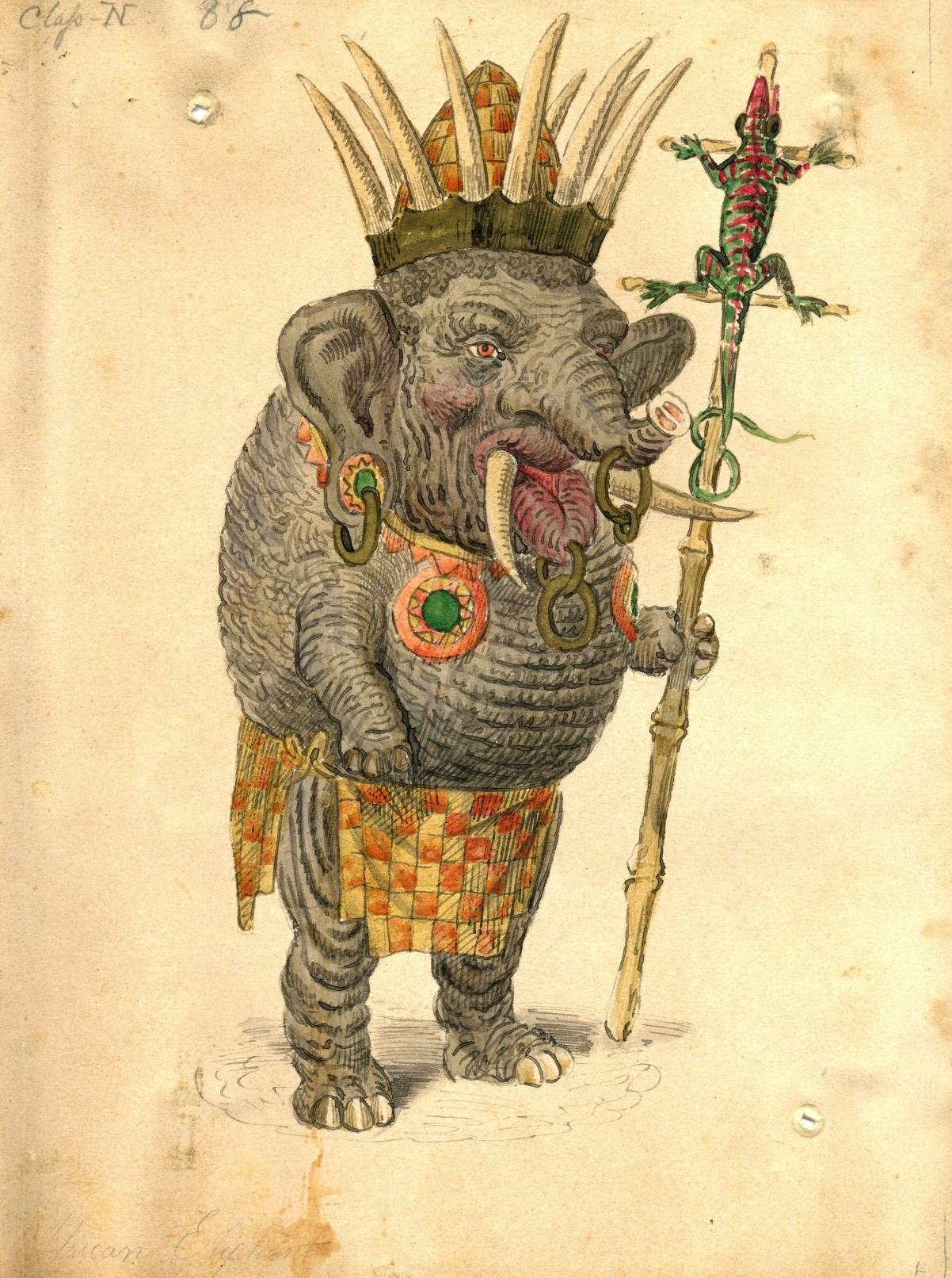 Charles Briton - Wild Boar Costume Design, 1873