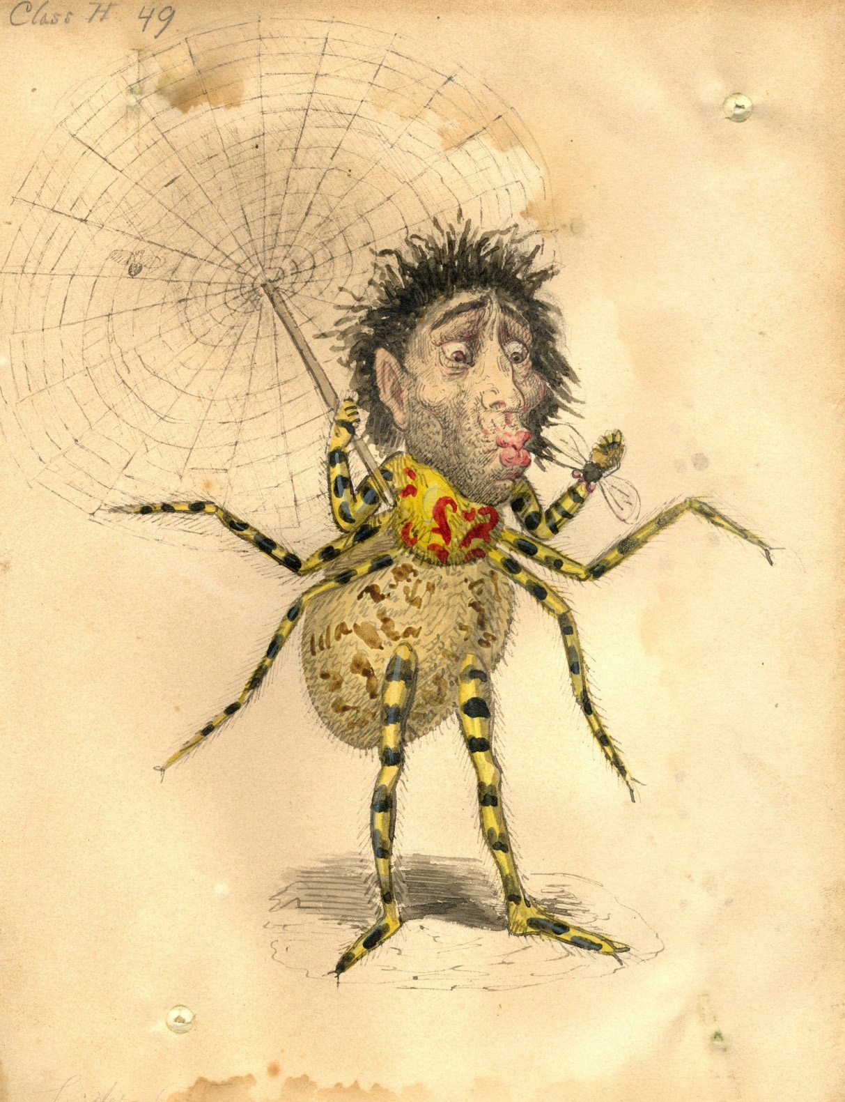 Charles Briton - Spider Costume Design, 1873