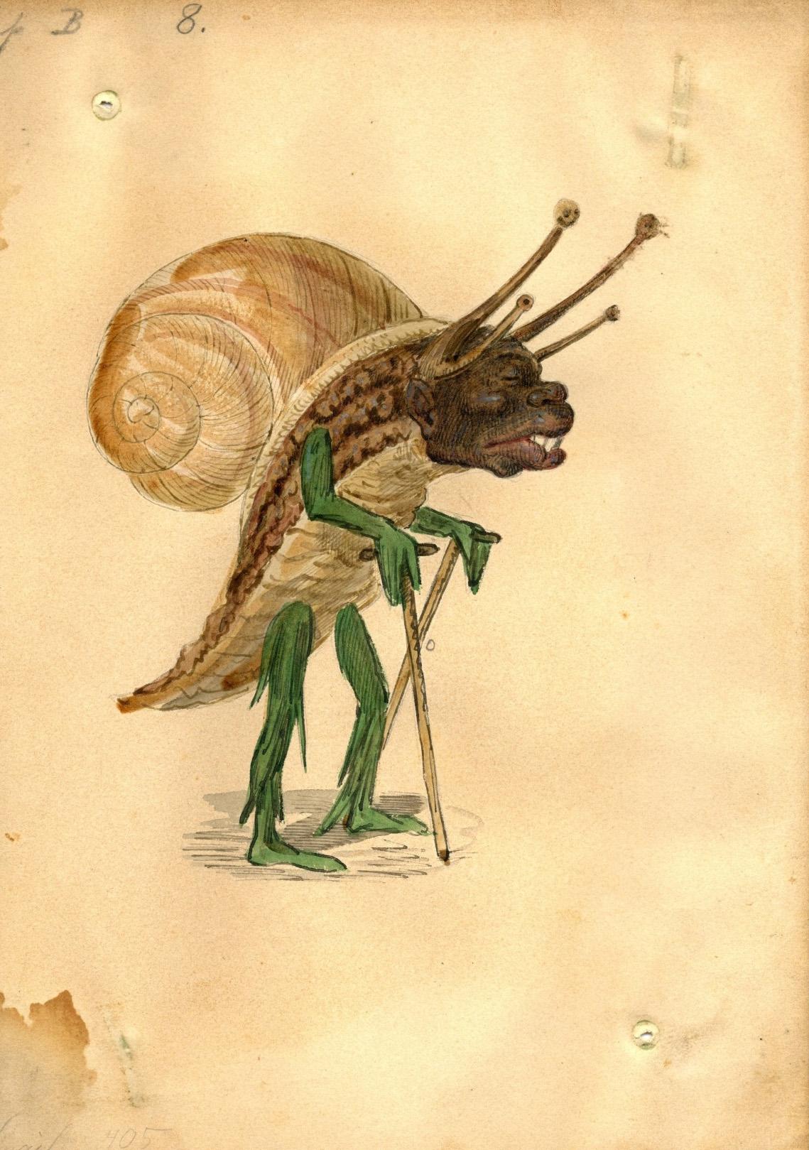 Charles Briton - Snail Costume Design, 1873