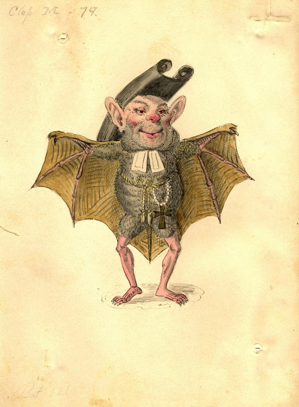 Charles Briton - Bat Costume Design, 1873