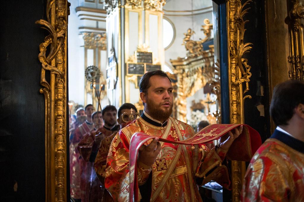 15 сентября 2019, Литургия в Николо-Богоявленском морском соборе / 15 September 2019, Divine Liturgy in the St. Nicholas Naval Cathedral