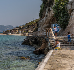 Playing & Fishing - Kokkari (Samos - North Aegean - Greece) (Panasonic Lumix S1 & Sigma DN 45mm f2.8 Prime) (1 of 1)