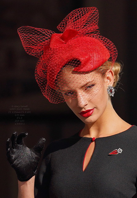 The lady with the red hat......