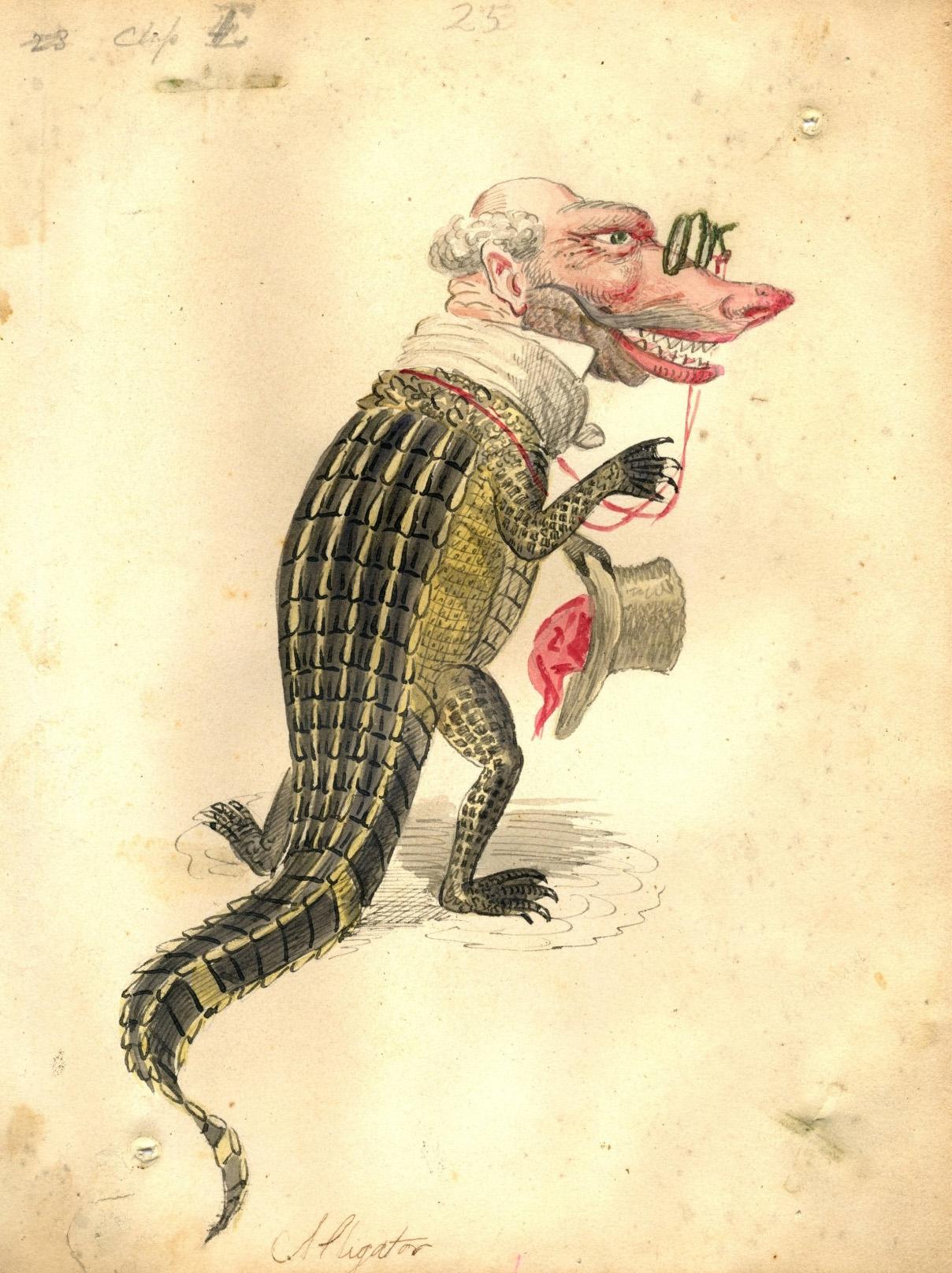 Charles Briton - Alligator Costume Design, 1873