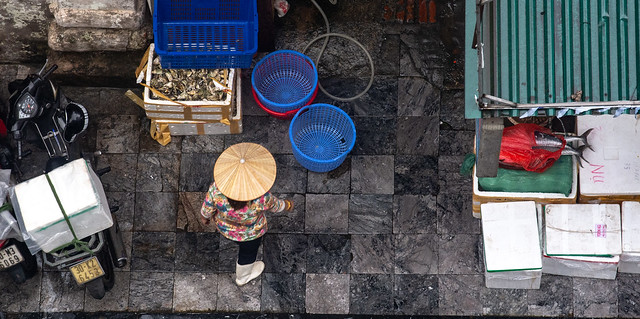 The fishmonger. Hanoi, Vietnam