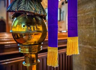 church lectern bible mark ribbon