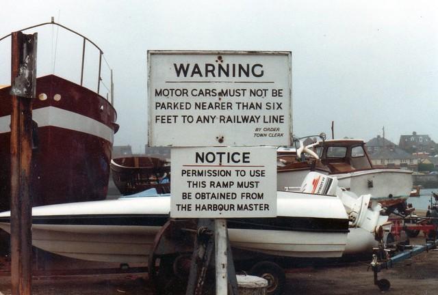 Never Ignore Warnings (1)  Weymouth 1982