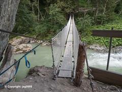VAL180 Shooting Stand Bridge over the Valser Rhine, Vals, Canton of Grisons, Switzerland