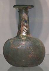 Iridescent glass vase in the Portland Art Museum, USA