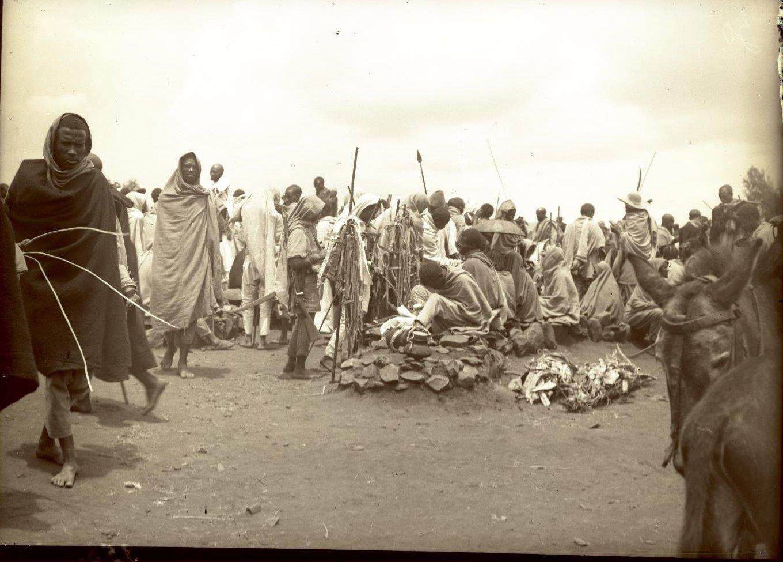 354.1899. Абиссиния, Аддис-Абеба. Базар. Галла