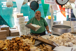 Selling Nouget Candy Torrone at the Feast of San Gennaro Festival