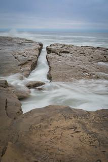 Incoming Tide over Rocks