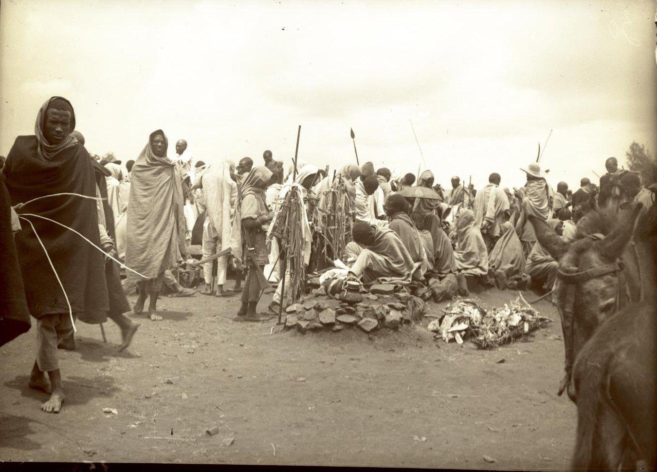 358.1899. Абиссиния, Аддис-Абеба. Базар.