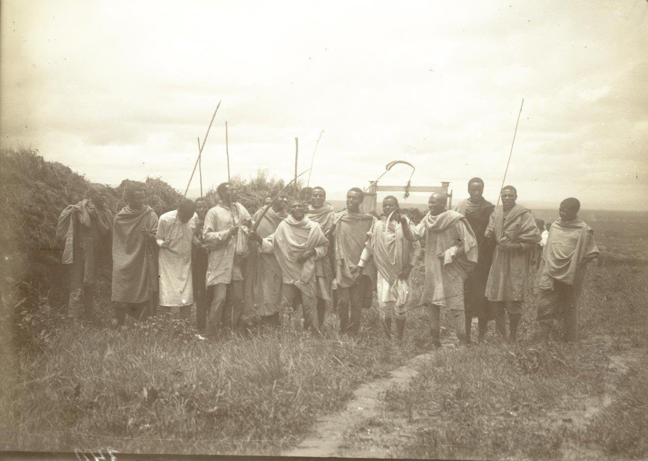 340.  Абиссиния, Аддис-Абеба. Праздник Буге. ашкеры (солдаты)