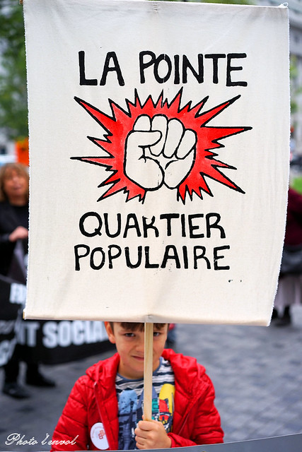 manifestation du FRAPRU (front d'action populaire en réaménagement urbain)