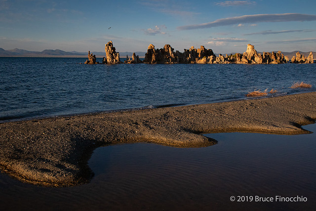 A Sand Spit Formation On Mono Lake Southwestern Shore