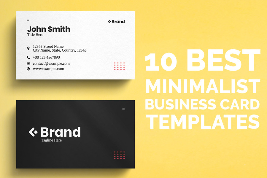 10 Best Minimalist Business Card Templates
