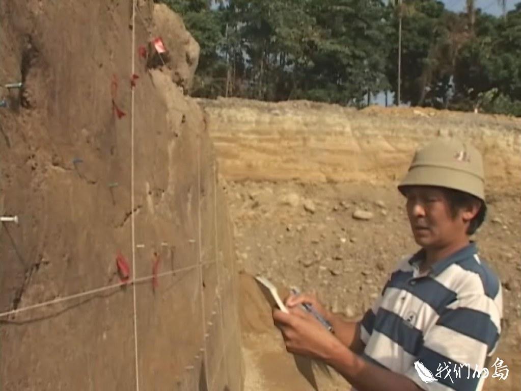 台灣大學地質系陳文山教授,主持古地震研究,保留了珍貴的車籠埔斷層剝片。