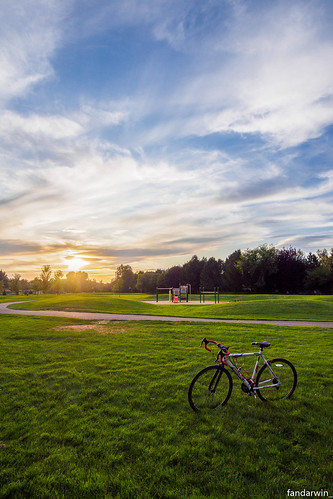 boise barber park summer 2019 sunset bicycle darwin fan fandarwin olympus omd em10