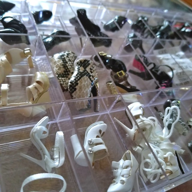 Fashion Royalty Shoes organized & easy to find