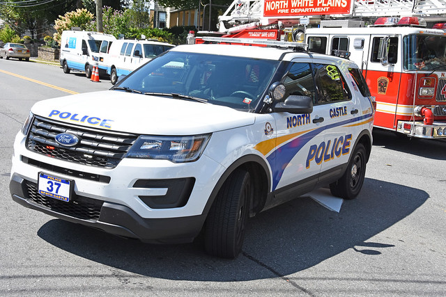 Picture Of Brand New Town Of North Castle New York Police Department Car # 37 - 2019 Ford Explorer Police Interceptor Utility. Photo Taken Saturday September 7, 2019