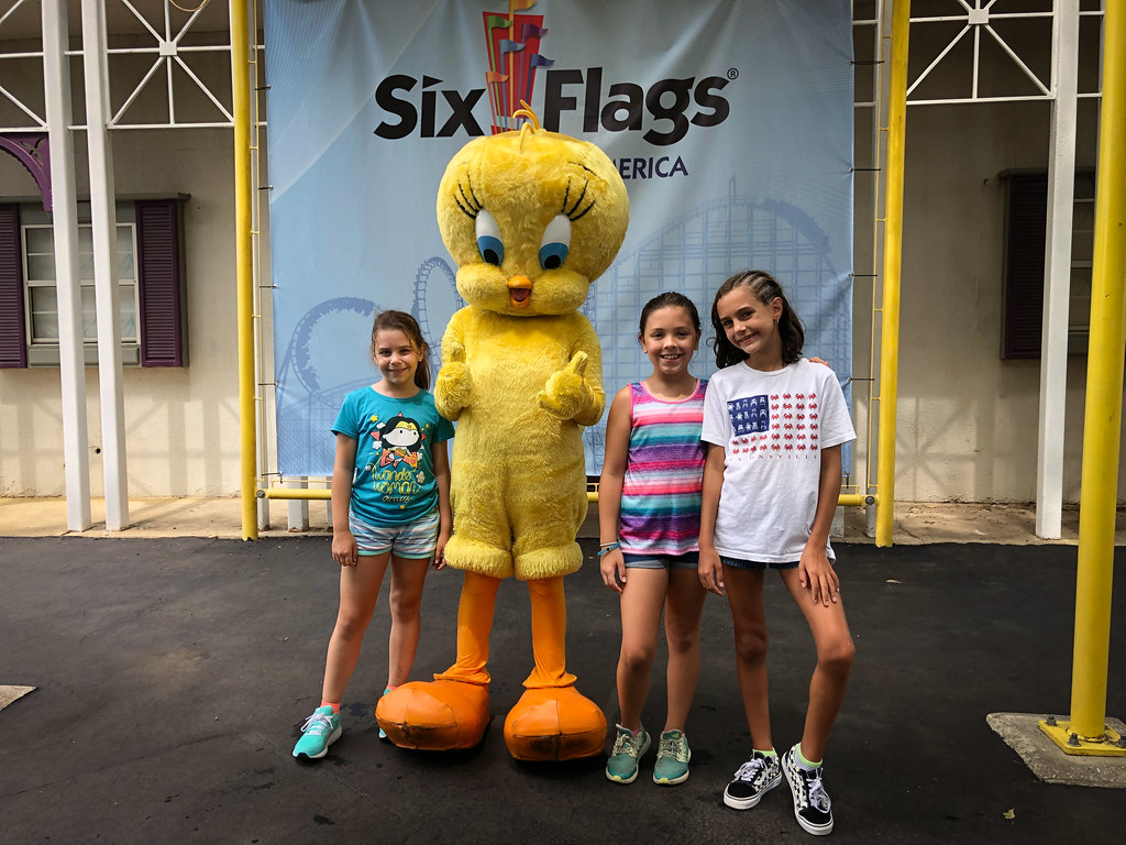 Six Flags with friends