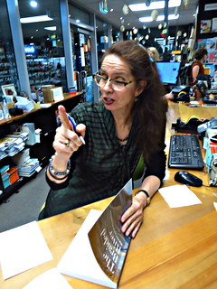 Diane Comer, Unity Books, Willis Street, Wellington, New Zealand for her book launch 'The Braided River' 190502 112