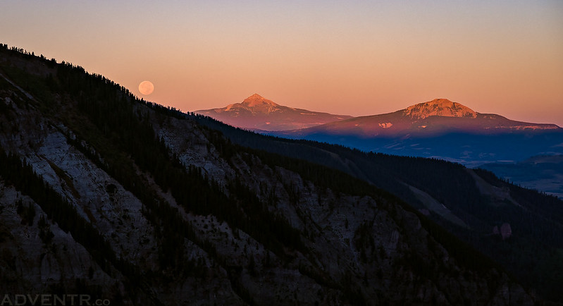 Lone Cone Moonset