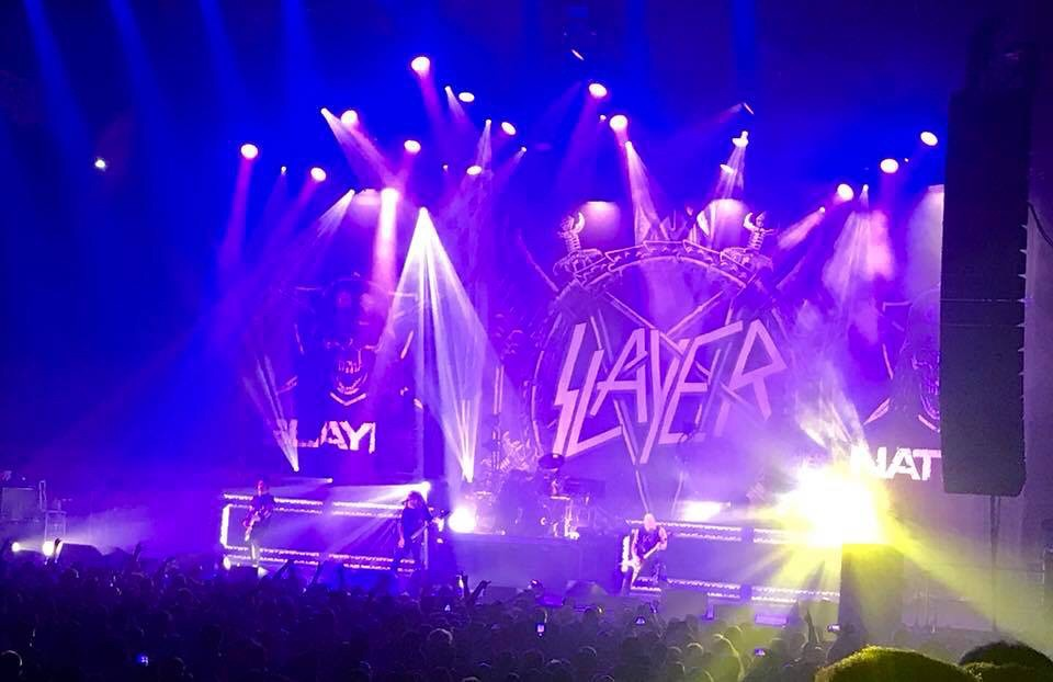 Slayer at Santander Arena in Reading, PA.