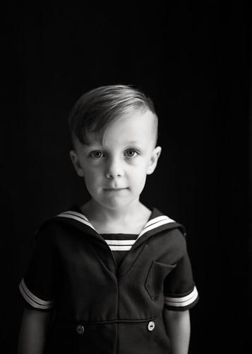 Sailor suit monochrome