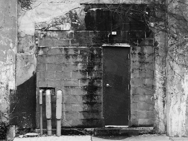 Door in the Cinder Blocks