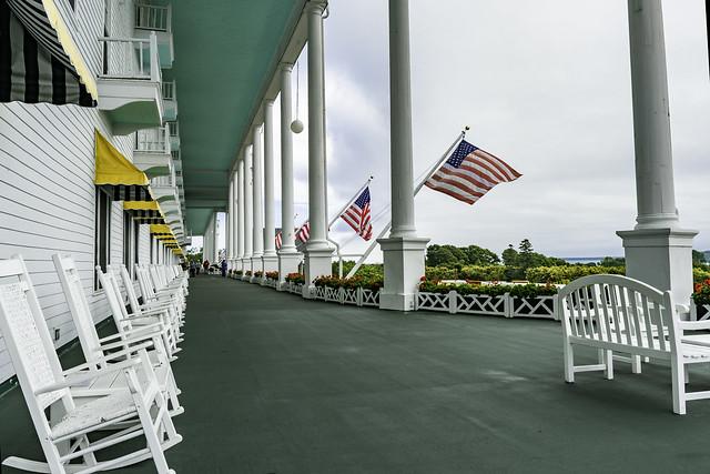 Grand Hotel front porch - Mackinac Island