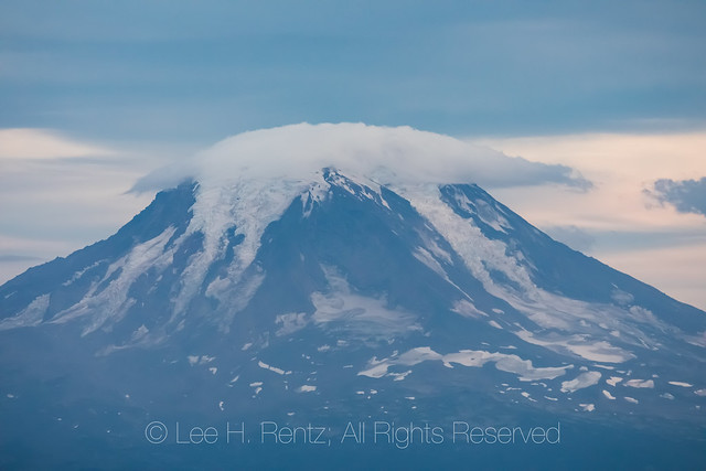 Mount Adams with Storm Clouds in the Goat Rocks Wilderness