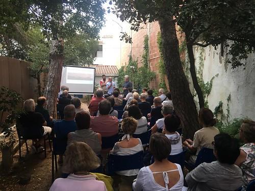 Xerrada d'Agustí Martin Mallofré, rector de la facultat de Nàutica de Barcelona. 13 de setembre a la Casa Barral. Dintre els actes de cloenda de l'exposició de la Francisca.